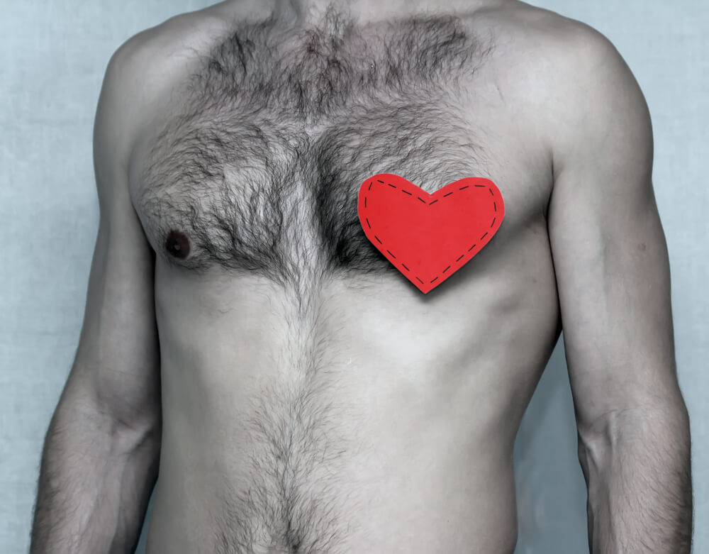 胸脱毛の範囲