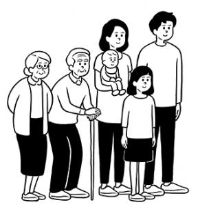 クリクラ2世帯家族