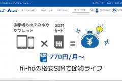 格安SIMの「hi-ho LTE typeD」とは?料金・申込方法や評判を紹介