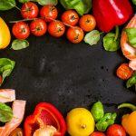 色とりどりの野菜と果物