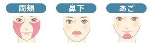 聖心フェイスパーツ(両頬・鼻下・あご・あご下・額)