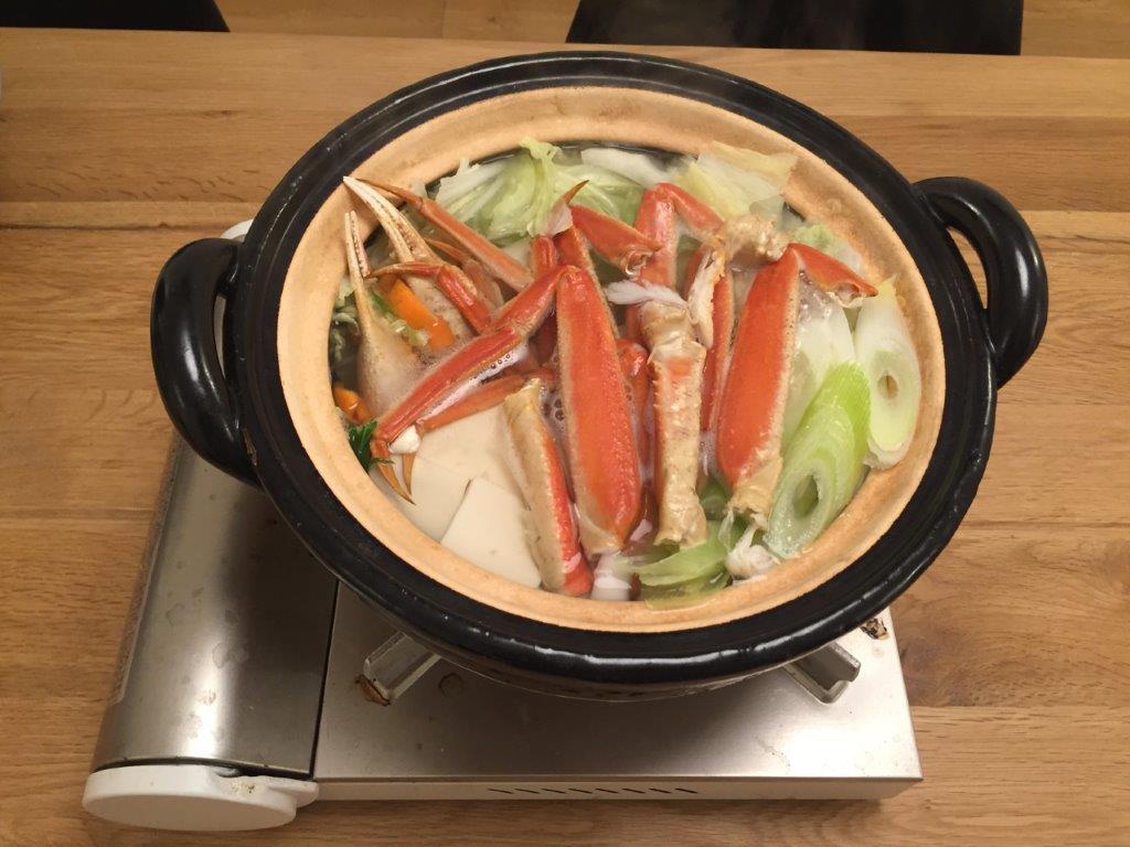 ズワイガニで蟹鍋