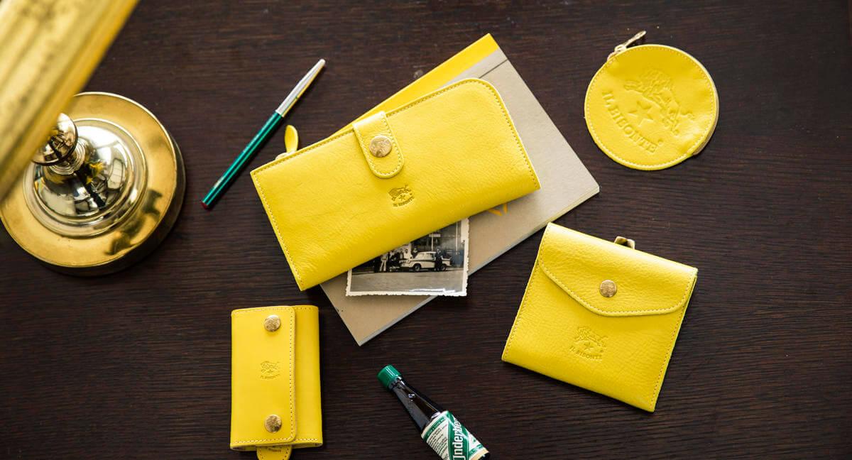 イルビゾンテの財布黄色