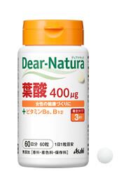 アサヒ「ディアナチュラ葉酸」ボトルタイプの商品画像