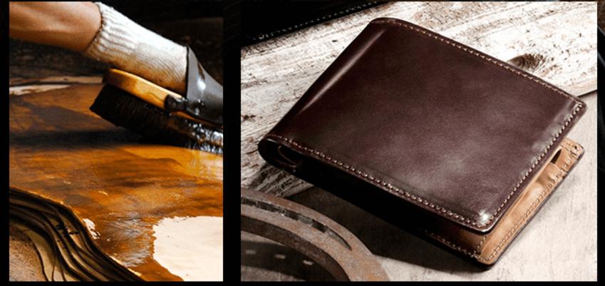 日本製ホーウィンコードバン二つ折り財布 Horween 【GLEN HERITAGE】