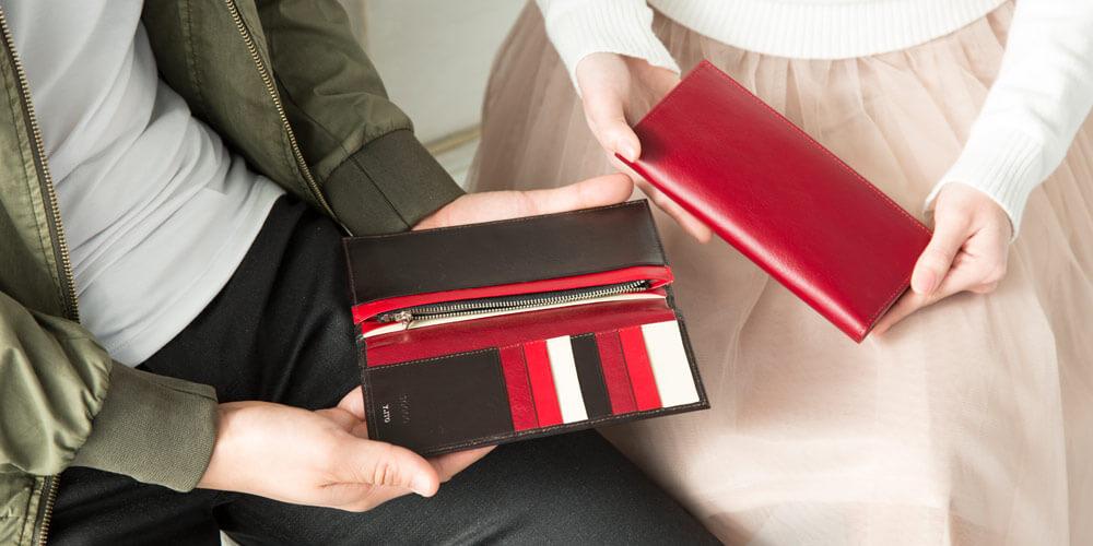 ジョッゴのペア財布赤