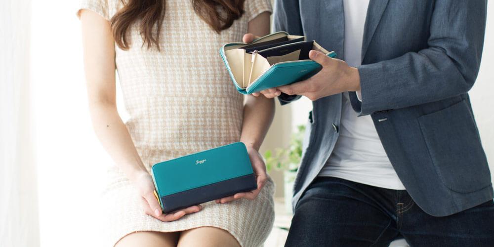 ジョッゴのペア財布ブルー