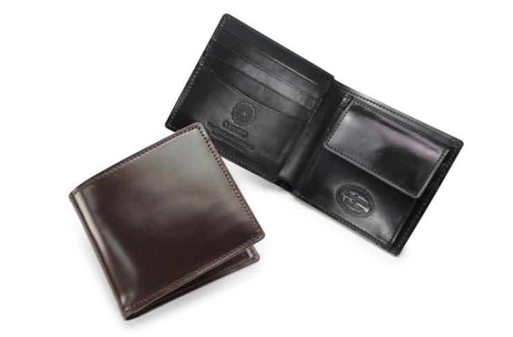GANZO(ガンゾ)SHELL CORDOVAN 2 (シェルコードバン2)二つ折り財布 (1)