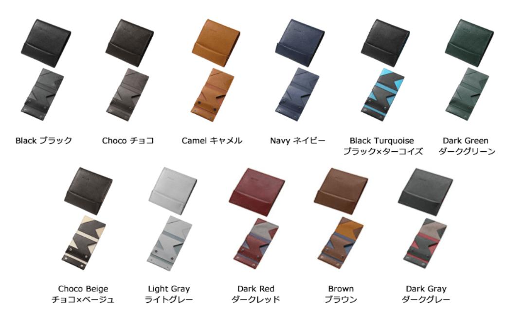 abrAsus 薄い財布(二つ折りタイプ)