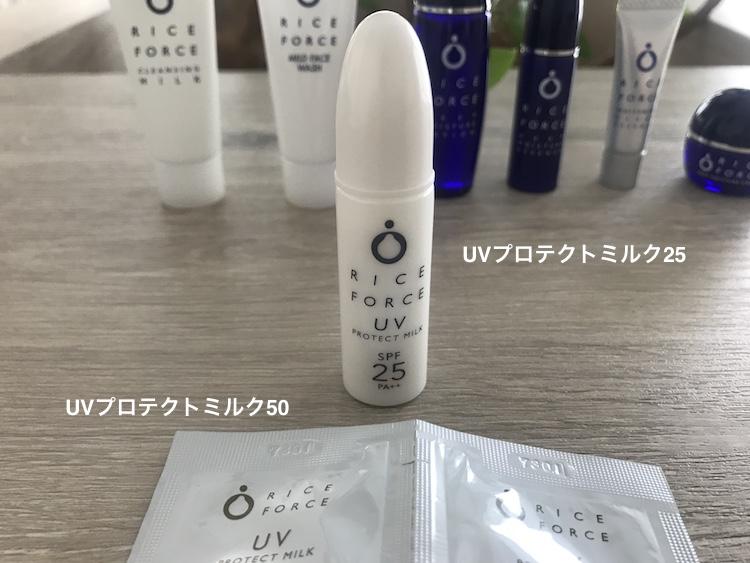 ライスフォース日焼け止め UVプロテクトミルク25 UVプロテクトミルク50