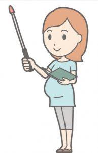 妊婦イラスト注目 (1)