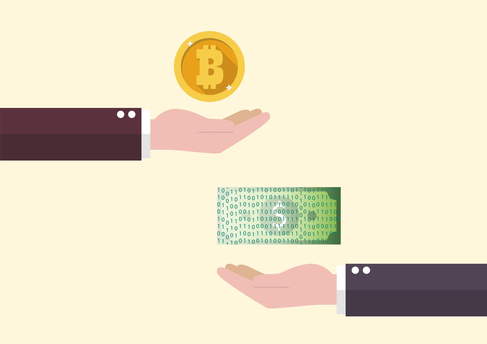 仮想通貨と法定通貨の交換
