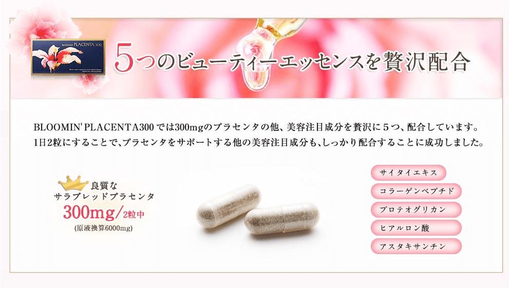 理由2:5種類の美容成分を配合