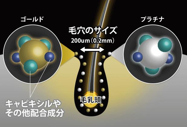 Wナノ化とマイナスイオン水で圧倒的な浸透力を実現