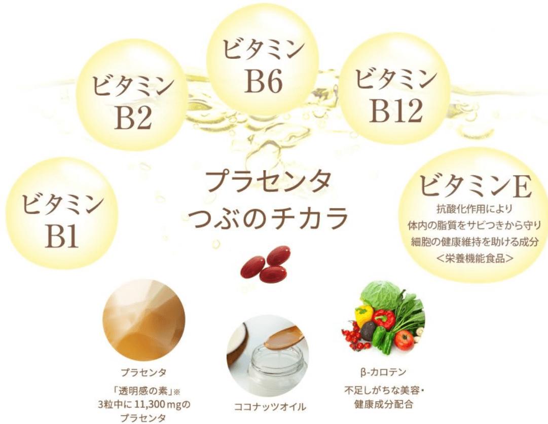 7つのうれしい美容成分のプラス配合