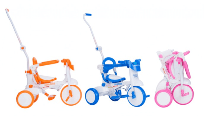 GR-TRY折りたたみ三輪車