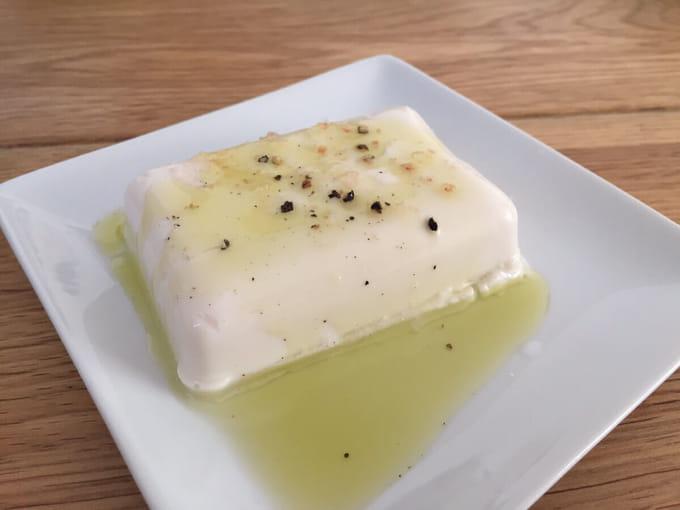 塩オリーブオイル豆腐