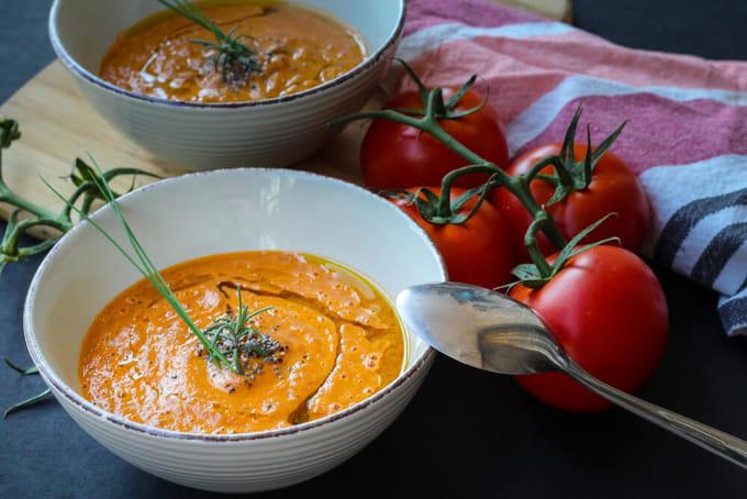 チアシード入りスープ
