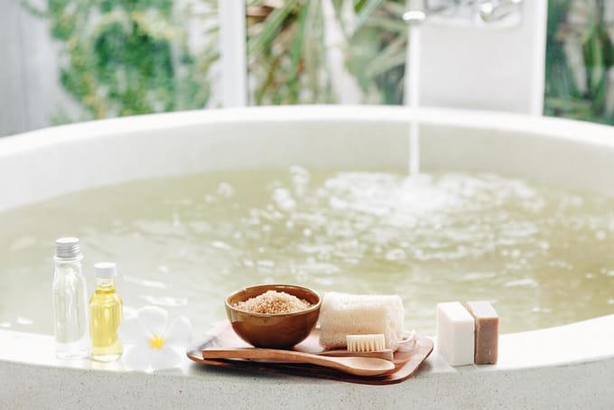 冷え対策ができる入浴剤を入れる