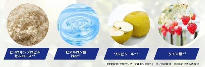 食品由来の4種の天然成分