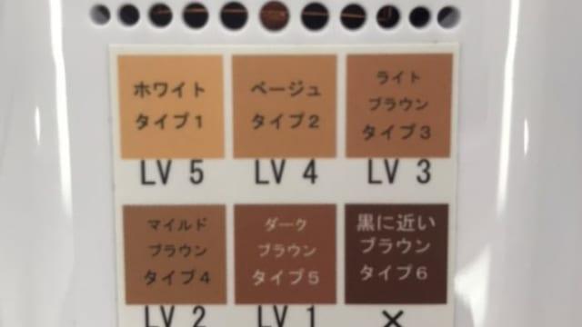 肌色チャート