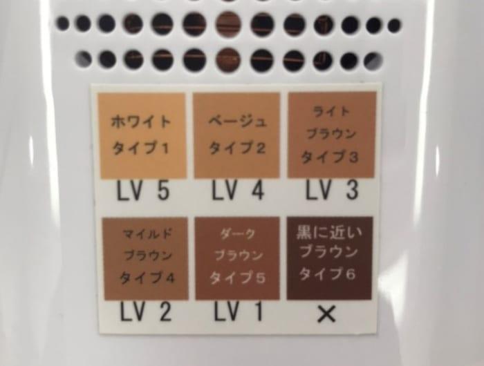 脱毛ラボ本体レベル表示の写真